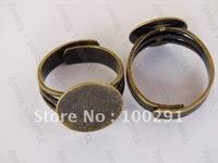 14mm pad Antique bronze Ring base