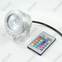1pcs 10W RGB LED Memory Function Garden Flood Light Lamp Spotlight 12V+ 16 Colors Remote Control Silver