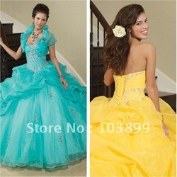 Comfortable Ball Gown Sweetheart Crystals Ruched Ice Blue Quinceanera Gowns Online(China (Mainland))