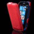 Good Quality For Nokia Lumia 610 Leather Case ANKI Original Flip Genuine Cover Free Shipping