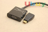 mini HDMI male to VGA female Connection Kit adapter for video hardriver DVD Blue Ray google android player projector tablet