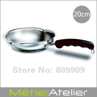 20cm frying pan with spouts 18/10 stainless steel giftbox packing K0065