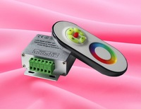 Wireless RF Dimmer Controller with Touch Touching Remote controll for RGB LED Strip lights 12V 18A
