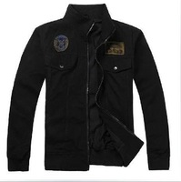 Free shipping 2011 winter hot sale men outdoor leisure USA airborne 100% cotton flight cotton jacket