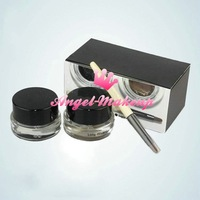 50pcs/lot  2012 New EYES long-wear gel eyeliner set, 2 colors Black Ink & Sepia Ink kit 3g each Free Shipping