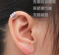 Promotion Ear Cuff Delicate Non-pierced ears Earring Jewelry Golden, Silvery 60pcs/lot Free Shipping