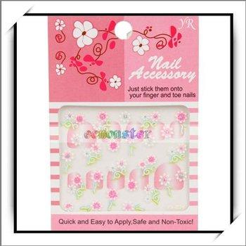 Free Shipping,Flower 3D Nail Art Sticker Decal Set 12Pcs,100% manufacturer compatible,10pcs/lot-10004154