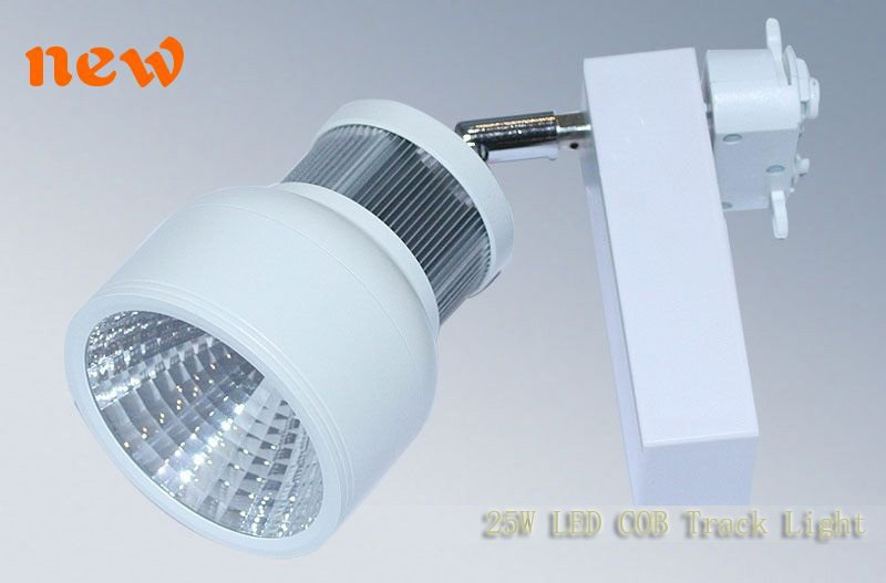 12X White Led Track Light 25W, BrightLux Led track Spot Light COB, Non-Dim, Factory price(China (Mainland))