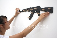5pieces Wholesale Free shipping AK47 hook AK47 wall hook AK47 with bullets for geek. wood, cool design white& black