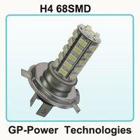 2012 Newest Free shipping+10pcs/lot+H4 68SMD  Car LED Fog Lamp
