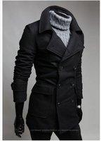 2012  New Arrival Bouble-breasted golilla Jacket Men's Shitsuke Coat Fashion Coat 201208007