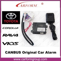 Canbus OBD Car alarm system With automatic door lock/unlock function/For TOYOTA VOIS,COROLLA,RAV4 cars/Free shipping(China (Mainland))