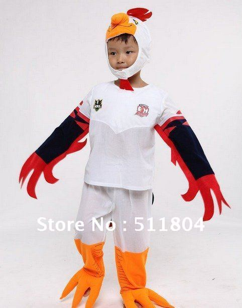 Children Rooster Cosplay Costume, Kids Halloween Christmas Performance Wear, Rocky Stage Apparel ( 6 Sets / Lot )(China (Mainland))