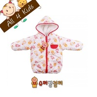 New Baby Girls Winter berber Fleece Vest jacket warm clothing cartoon snowswear kids coats 3pcs/lot baby clothing