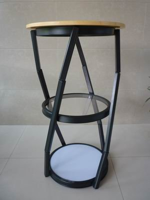 Hot sales! D45x100cm height Black spiral tower, promotion counter, aluminum desk(China (Mainland))