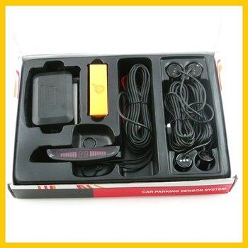 Free Shipping 4 Parking Sensors LED Car Reverse Backup Radar Kit New  ZWQ10002
