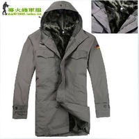 Free shipping 2012 autumn hot sale men outdoor leisure The German army dust coat/camel flocking dust coat