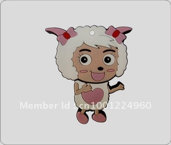 2012 the fashional sheep usb flash drives lovely u disk rubber pen drive