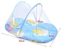 Fashion Design mosquito net bed canopy for newborn baby mosquito nets with cotton mat and pillow