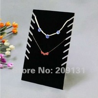 2PCS Black Multi-Row Necklace Displays Stands,free shipping