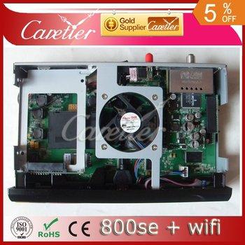 2012 free shipping dvb 800 SE hd receiver with wifi 800hd SE 800se hd satellite receiver 800 hd SE Extra USB (2pcs se wifi)
