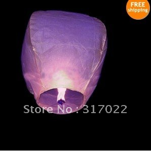 2012 Lanterns 20pcs Sky Lanterns Fay Balloon Festival Wish Night Lights,paper lantern Free Shipping(China (Mainland))