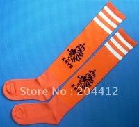Netherlands Holland Football Soccer Knee High Long Socks Orange Adult Size