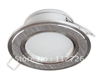 5W  LED Ceiling Light, LED Down Light  Brushed Silver