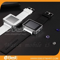 Free shipping Factory Price 2012 new i5 Java FM Single Card Touch Screen Watch Cell Phone