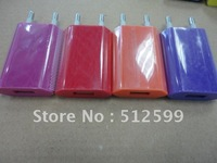 New Arrival 10pcs EU charger plug Wall Charger For iphone 4S 4 4G 3GS for ipod for ipad 2 III + High Quality