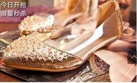 Women fashion lace nude sweet summer  women's silk shoe sandals casual sexy flat shoes for woman ,free fast shipping