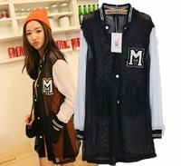 2012 summer vcruan baseball queen gauze baseball clothing color block decoration breathable sun small cardigan