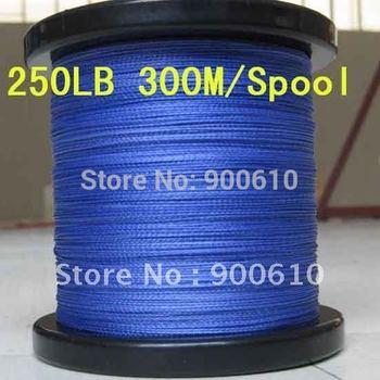 Super Strong 100% UHMWPE 8-Braid Fishing Line 250LB 0.92MM 300M/Reel