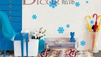Medium Love snowflakes, Christmas and New Year fun snowflakes, wallpaper,room sticker, house sticker/FREESHIPPING