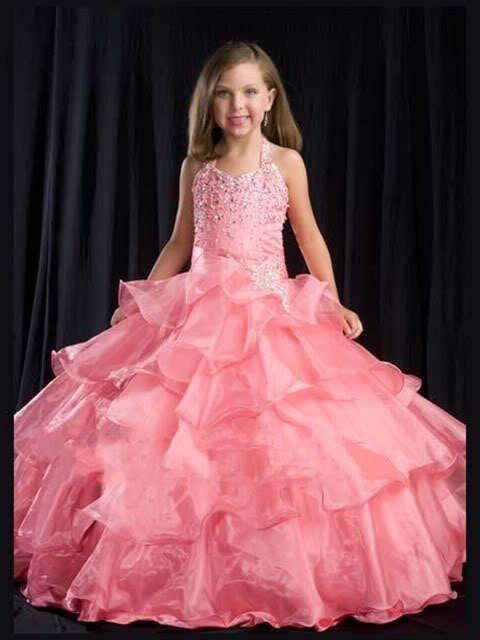 Dress Children Children Pageant Dress-in