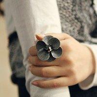 5pcs/lot fancy petal ring finger ring fahion jewelry US size(8.5) R0749