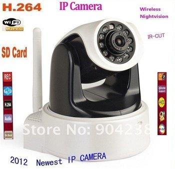 HD 1MP IP Camera , H.264 &Mjpeg PT wireless Ip Camera With Ir-Cut,SD card slot