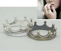5pcs/lot vintage crown ring finger ring fahion jewelry US size(4.5) R0726