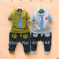 4sets /lot kids pant & sweatershrit cotton boys clothes children wear garment, 1-4 years , BC121