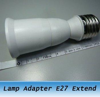 Freeshipping 10PCS Light Lamp Adapter E27 ES27 Socket Extender Extension Screw Fitting LONG