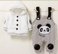 2012 NEW Panda baby suit outfit clothes for kids children toddler wholesale childrens clothes set autumn winter Freeshipping