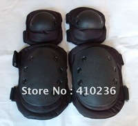 Wholesale free shipping Blackhawk Tactical knee and elbow protector pads set Black  Four pieces one set good quality
