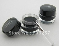 Best Selling!-5g Waterproof black eyeliner gel with brush Fluidline Make-up eyeliner 12pcs/ lot