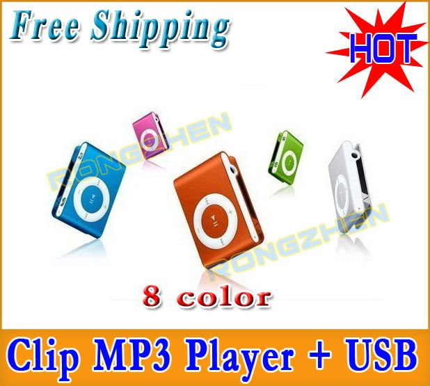 *FACTORY DIRECT* Support 1-8GB TF card 3 IN1 Best Gift Cute Best-selling MINI Clip MP3 Player + GIFT 8 Colors Free Shipping(China (Mainland))