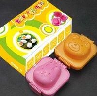 EMS free shipping rabbit bear Sushi Rice Mold Mould Seaweed Cutter plastic cake chocolate icecream egg 50PCS/LOT  KW-010
