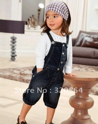Girls cowboy BeiDaiKu + long-sleeved T-shirt long-sleeved suit(China (Mainland))