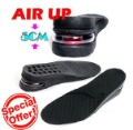 Special Offer! Men&#39;s Air Cushion PU Adjustable height increase insole 5CM Shoe Pad,Two-piece Design,free shipping