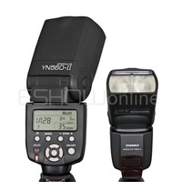 2014 YONGNUO YN-560 II Flash Speedlite E0087A LCD Screen YN 560 ii for Canon 5D II 7D 10D Nikon D90 Wanrranty