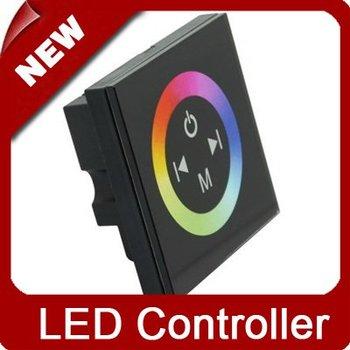 DHL EMS 12-24V Panel Touched LED RGB Controller for LED Strip   [LedLightsMap ]