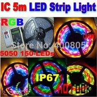 rgb led Magic Strip Light controller 5050 lantern article IP67 Tira LED strip Light 5M 12v 150LEDs 6803 IC + 133 Program CE RoHS